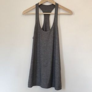 Lululemon Yogi Racerback Tank Top Pima Cotton Grey